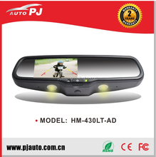 "4.3"" OEM Car Rearview Mirror Monitor W/ EC Auto Dimming & Reading Light, Specific Bracket for Renault Compact (HM-430LT-AD#51)"