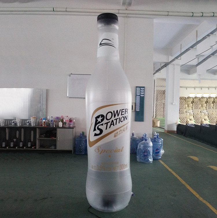 Customized Advertising inflatable beer bottle with LED light