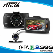 2.7 inch 140 degree angle USB 2.0 car reverse camera 1080p dual lens car dvr camera