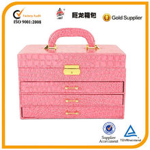 Newest fashionable makeup case /jewelry box, gift bag manufacture