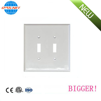 ETL List Jumbo 2 Gang PC Material Switch Wall Led Plate Cover Plate For Home Office And Hotel