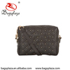 CL14-007 China manufacturer embroidery beaded PU black fashion ladies hand bag