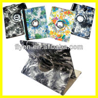 360 Rotating Magnetic PU Leather Case Smart Cover for iPad 4 & iPad 3 & iPad 2 Flower Painting Art Cases Covers w/ Sleep Wake Up