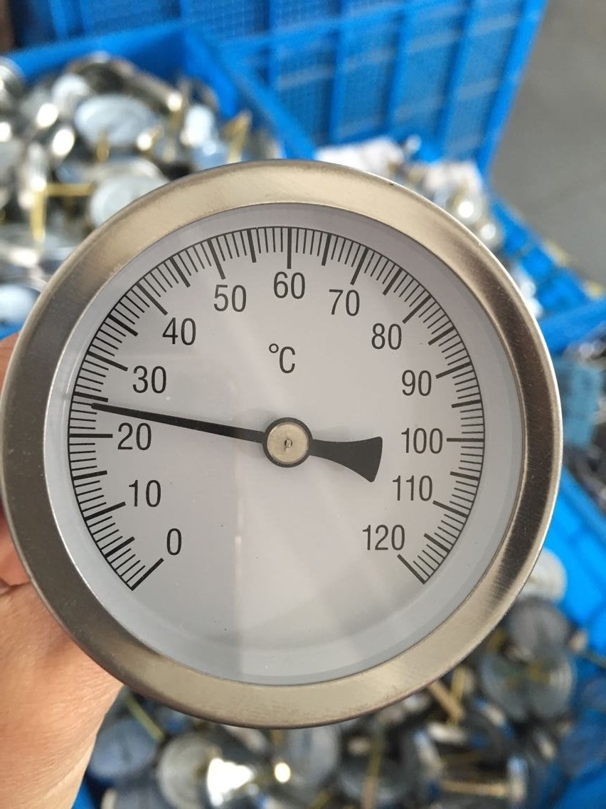 Hot Water Dial : Dial mm bimetal industrial hot water thermometer