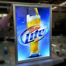 Popular Display Product Advertising Aluminum Led Slim Snap Poster Frame Light Box