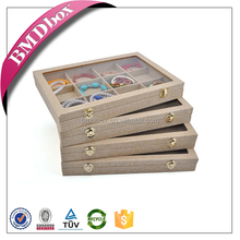 Luxury top sale with clear window jewellery display case box