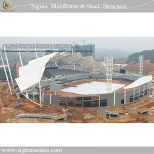 Tensile Membrane Structure with Steel Circular Tube Truss for Outer Gymnasium Roofing