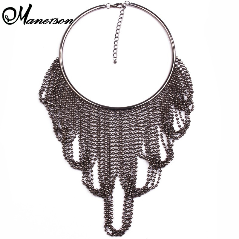 Fashion Design Eaggerated Multi-layer Tassel Crystal Statement Vintage Luury Crystal Necklaces & Pendants Jewelry B5514