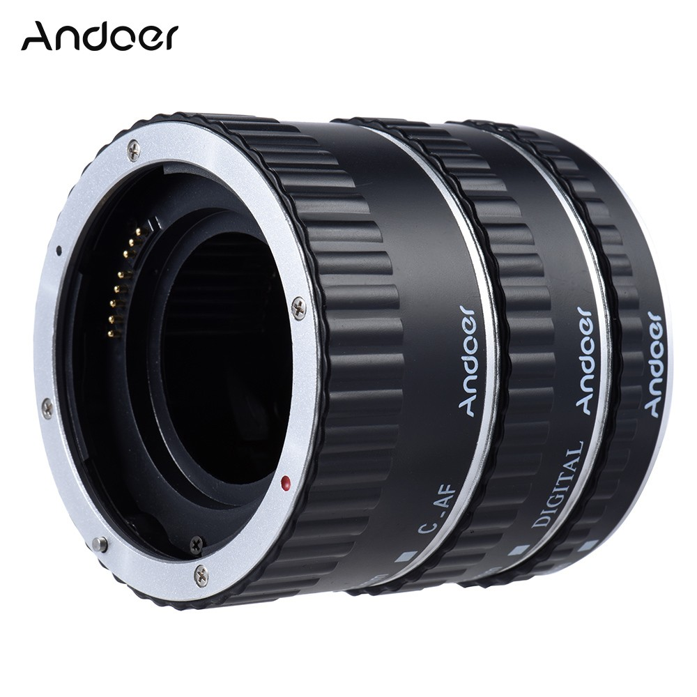 Andoer Colorful Metal TTL Auto Focus AF Macro Extension Tube Ring for Canon EOS EF EF-S 60D 7D 5D II 550D D928X