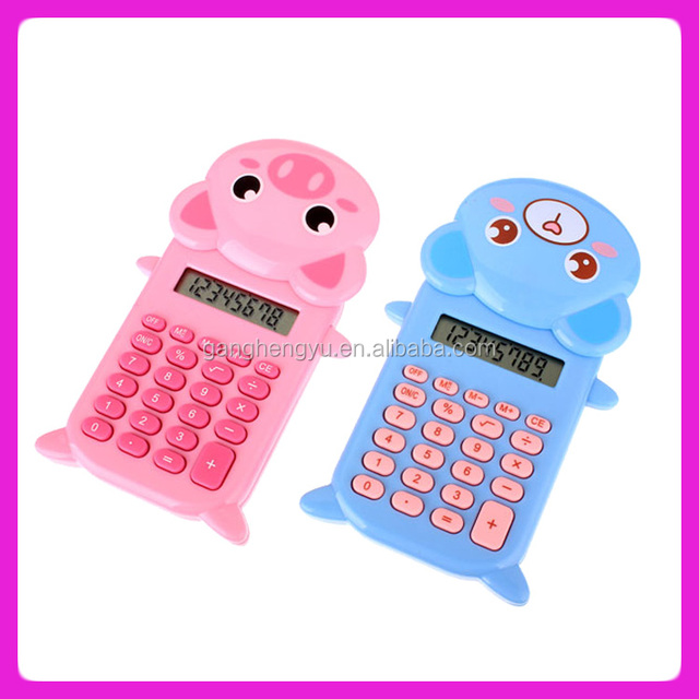 Cute animal shaped calculator ,slide calculator