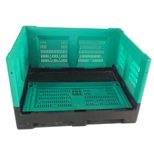 Vegetable and fruit cold storage collapsible plastic container pallet