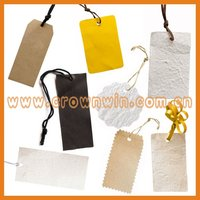 Glossy lamination coated paper branded hang tag
