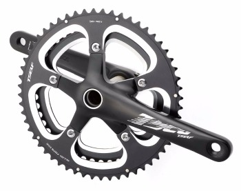 two-piece alloy crankset for racing bikes AZ7-AD520B