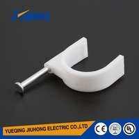Wholesale high security locking steel nail plastic round wall cable clip