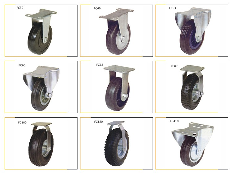 FC80 new products pu wheel caster heavy duty castor wheel