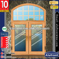 aluminum wood clad glass casement window with arch part