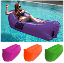 Swimming Pool outdoor lounge chair air sofa bed camping portable couch with canopy