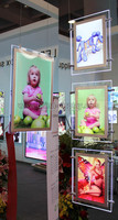 New original poster advertising crystal led light window display