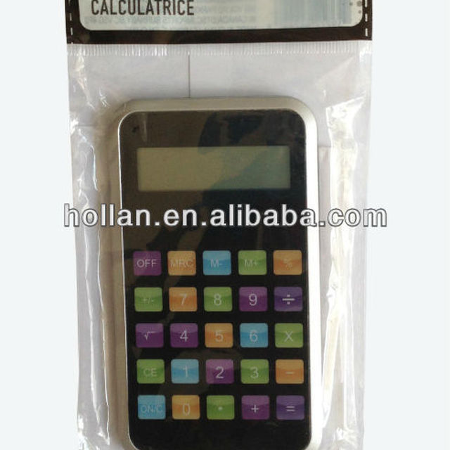 8 digit display cell phone shaped calculator