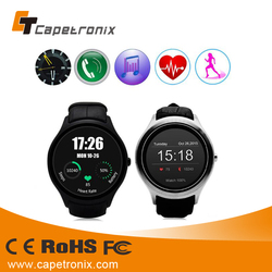 Round Android 4.4 Smart Watch for sport men wristwatch SIM Card GPS Anti-Lost WCDMA WIFI