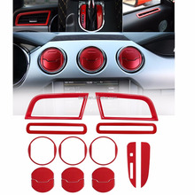 Full Set Car Interior Accessories Decoration Trim For 2015-2018 Ford Mustang (Red)