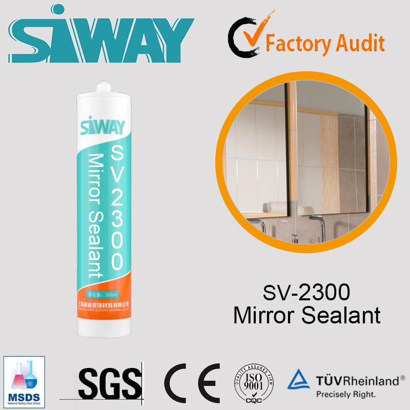 2017 New Arrival Weather-proof Silicone mirror Sealant with factory price