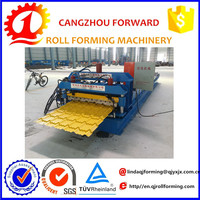 Indonesia model Glazed Steel Roof Tile Roll Forming Machine