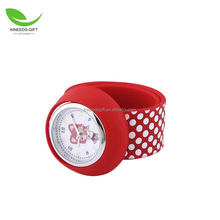Lovely Top Quality Children Boys Girls Fashion Kids Animal Silicone Slap Snap On Wrist Watch