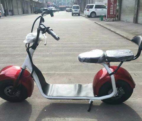 2017 Smart electric chopper motorcycle citycoco Electric sports motorcycle with CNC Rearview Mirrors 1000W 60V