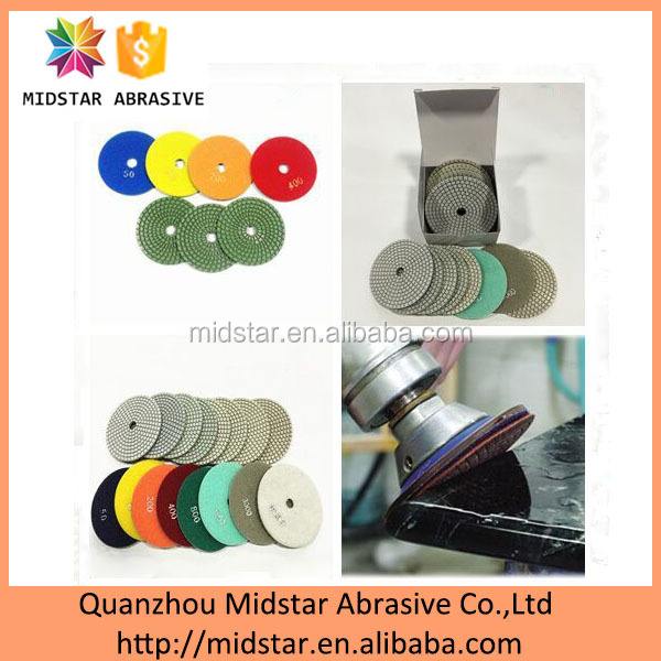 Resin Abrasive Pad Type Discs for Marble Polishing