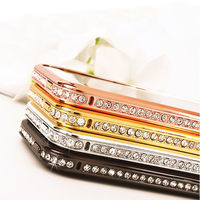 Crystal rhinestone diamond bumper metal aluminum case for iphone 5 5g 5s