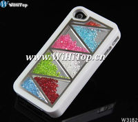 3D Case For iPhone 4 4S.Luxury Swatchway Rhinestone Diamond Bling Crystal Case Cover For iPhone