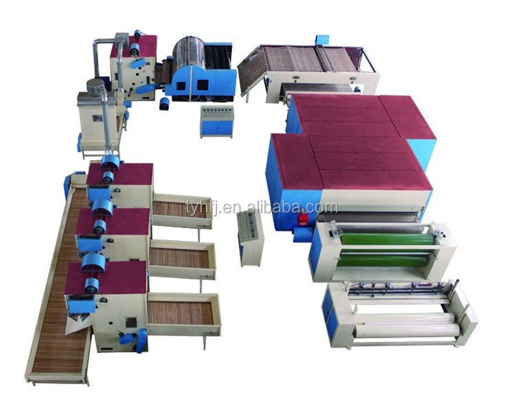 ZCM-1000 Carpet making plant,Sheep wool insulation production line