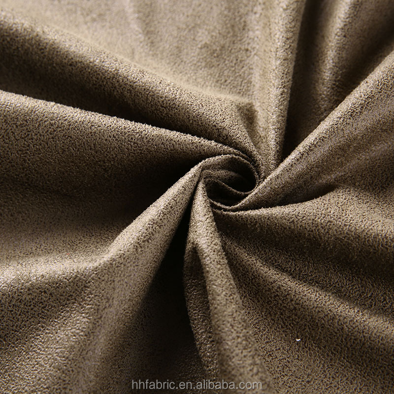 China direct textiles factory whosale 100 polyester faux suede leather fabric for chair covers, bonding fabric,bronzing