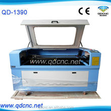 cheap cnc wood letters laser cutting machine 1390/ cnc 100w laser cut machine for wood shapes QD-1390 for sale
