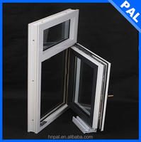 Hot sale Wind resistance wooden color 4 panel sliding window With triple glazing window