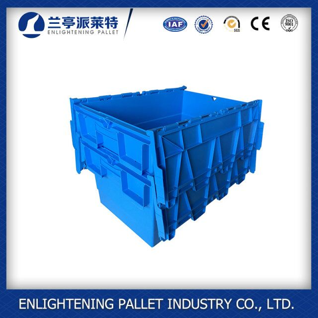 62L Corrugated Plastic Boxes Heavy-Duty Stack and Nest Container