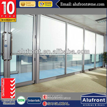 Plastic glass swing door vinyi glass shower door