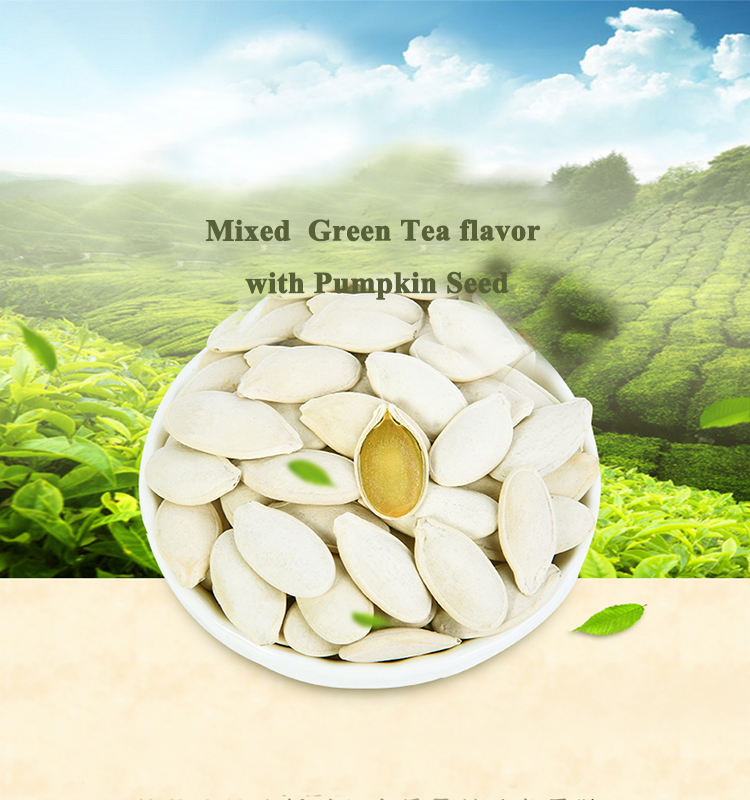 Special green tea flavor edible China roasted pumpkin seed with big kernel