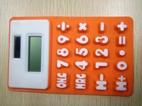Promotional convenient soft Silicone solar energy 8 digits desktop calculator