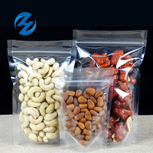 Custom printed zipper plastic stand up packaging bag for nuts coffee bean dried fruit