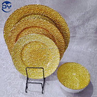 GP0012 Economic Gold Glitter Plate for Wedding Decoration
