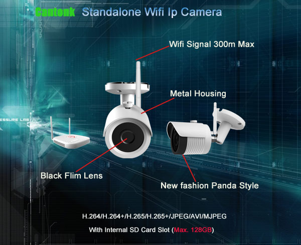 4CH CCTV Camera System Waterproof Wifi Nvr Kit Camera Wireless Wifi IP Camera Nvr Kit