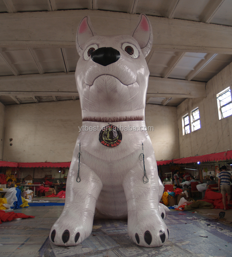 Hot sell giant inflatable dog animals model /inflatable characters replica for inflatable advertising model