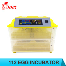 HHD 100 eggs capacity dual power chicken egg incubator for sale auto turning YZ-112