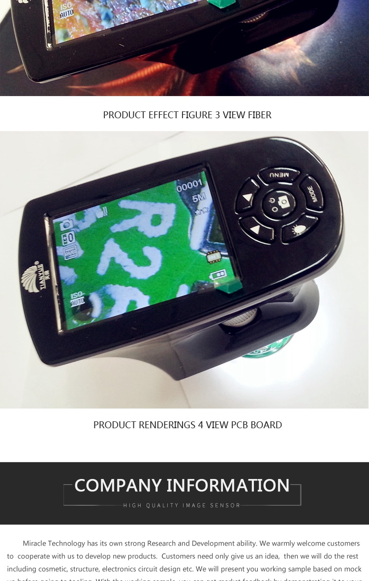 "Handheld Digital USB Microscope 2.7"" TFT LCD Screen 5MP Video Microscope 500X Magnifier Camera with Battery powered"