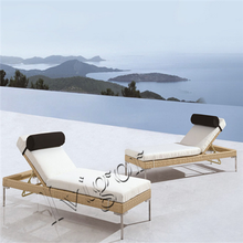 LG329 French style relaxing beach outdoor wicker sun lounger
