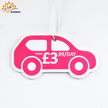 Most popular customized car perfume hanging paper air freshener