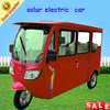 3 wheel electric bicycle for passengers with solar panel