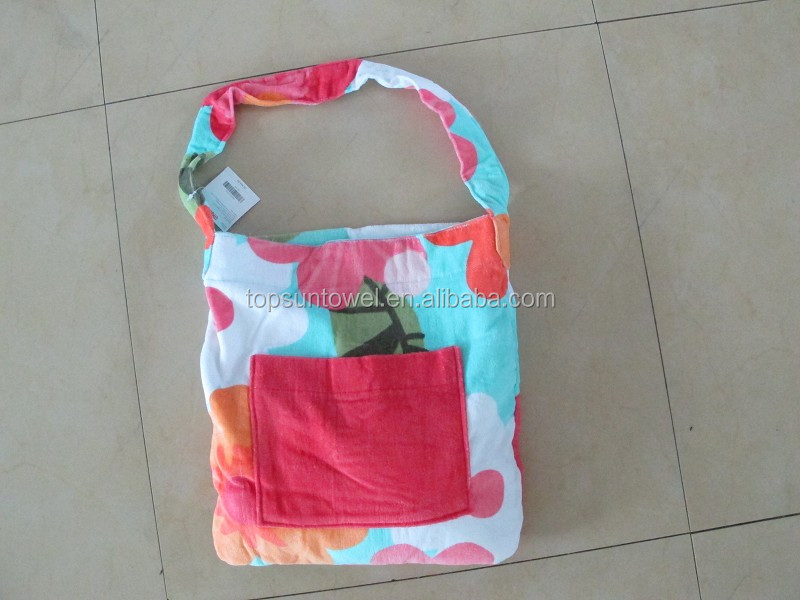promotional foldable beach bags and towel set